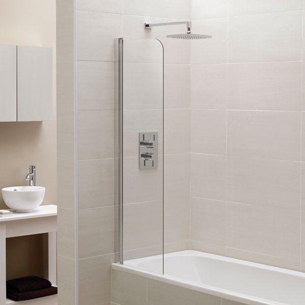 Mini Bath Screen Over Fixed Panel Water Deflector 1400mm X