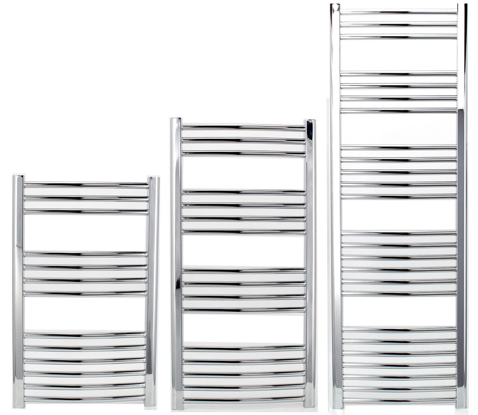 straight heated towel rail 500mm various height