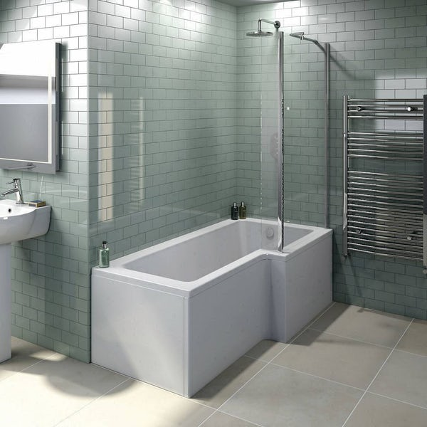 1800mm X 850mm X 700mm Left Right Hand L Shaped Shower Bath