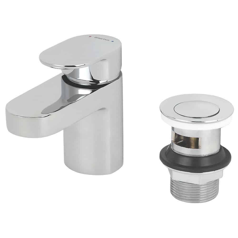 Bristan Frenzy Basin Mixer With Clicker Waste FRZ BAS - Cheeky Bathrooms