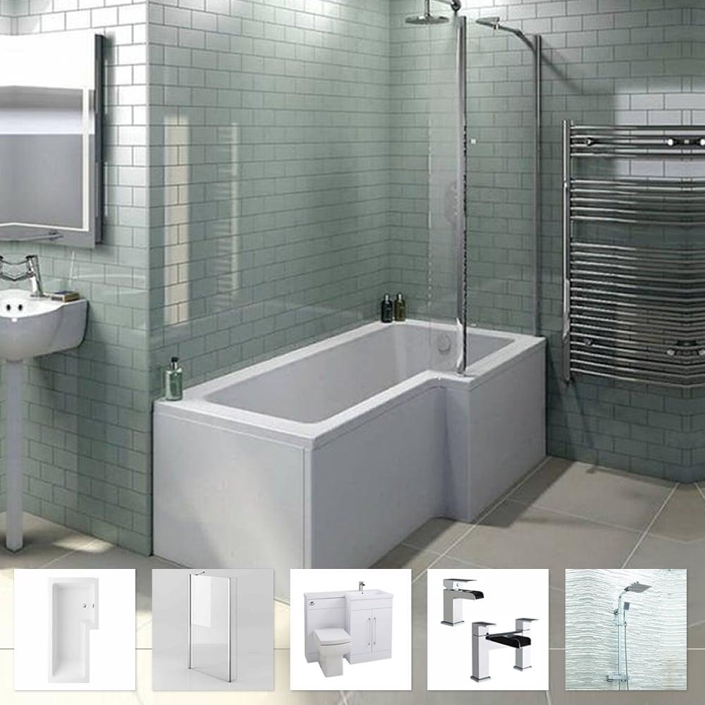 L Shape Shower Bath Bathroom Suite L Shape Vanity Cheeky Bathrooms