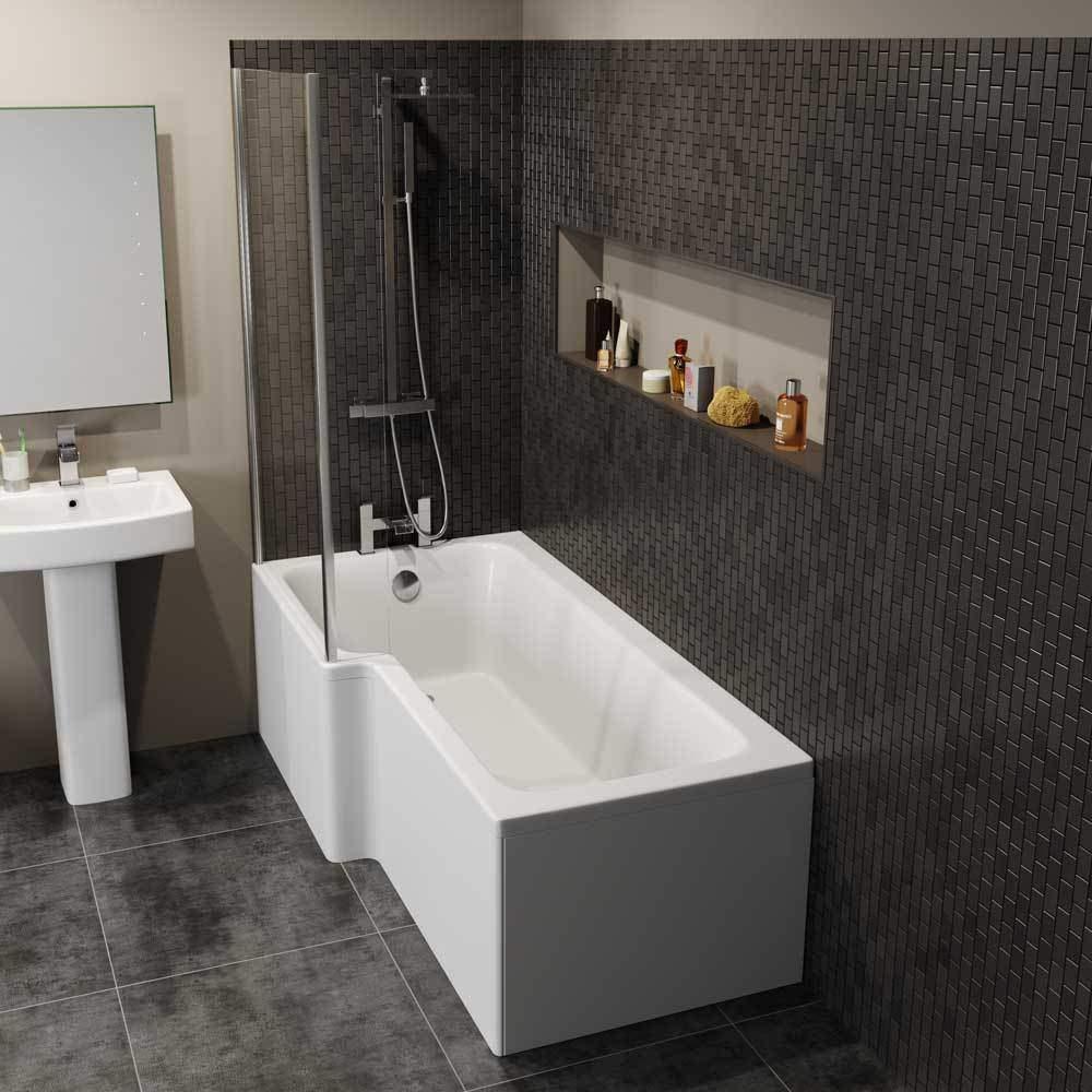 1700mm x 850mm x 700mm Left Right Hand L-Shaped Shower Bath - Cheeky ...