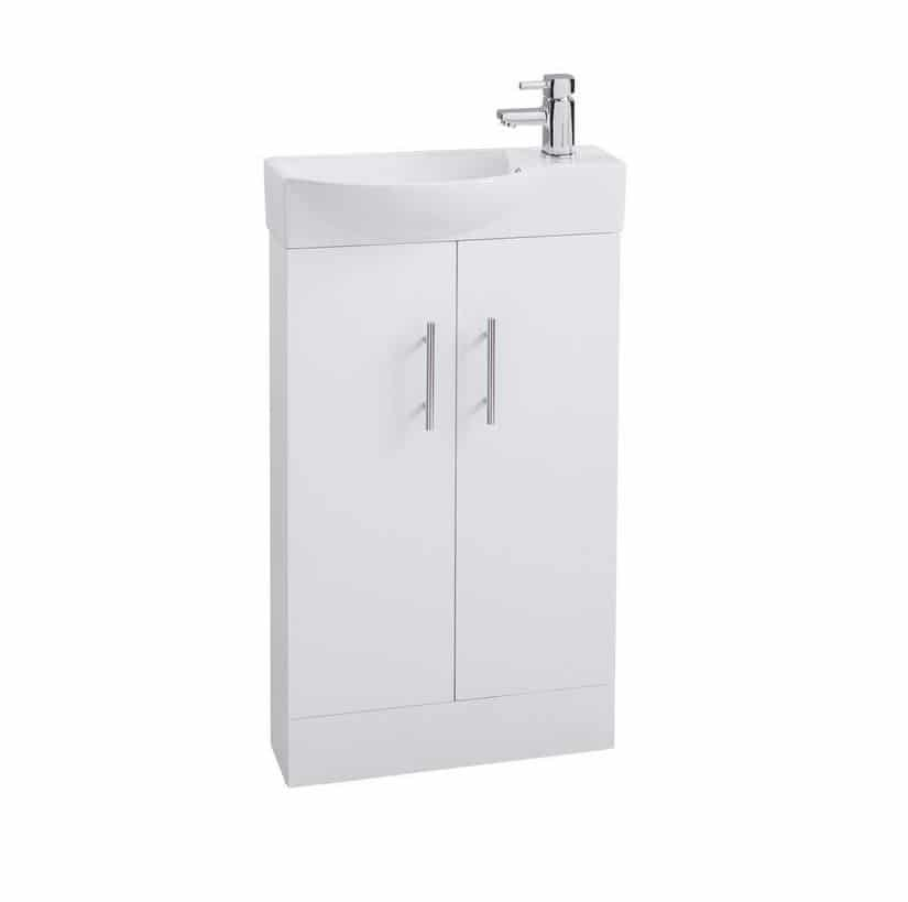 Valencia 500mm Mini Vanity Unit With 4 Choices Of Colour