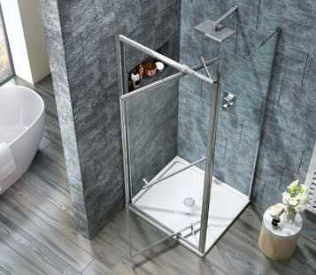 Scudo Infold 8mm Shower Door Cheeky Bathrooms