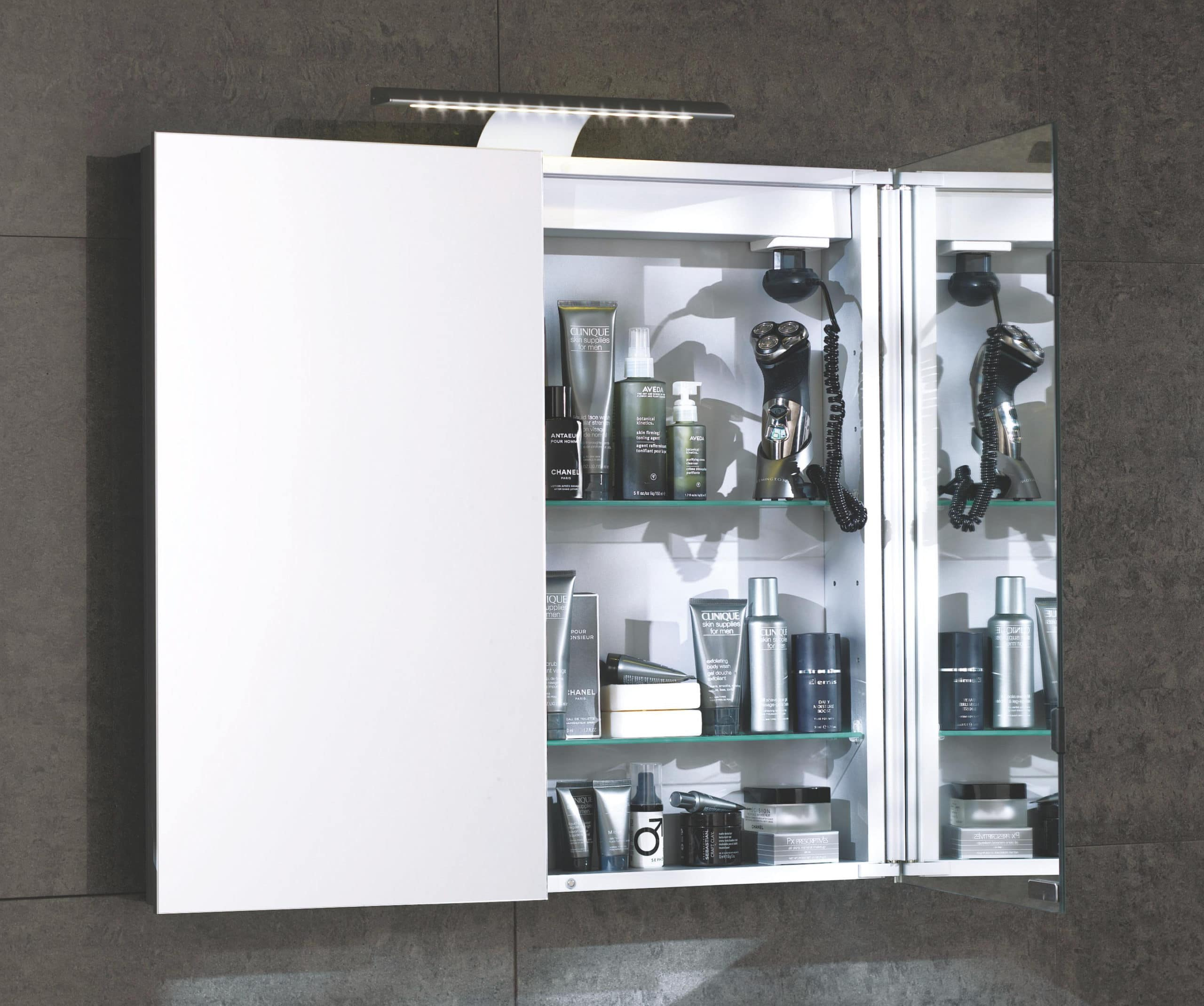 Aura 90cm Mirror Bathroom Cabinet Double Door Cheeky