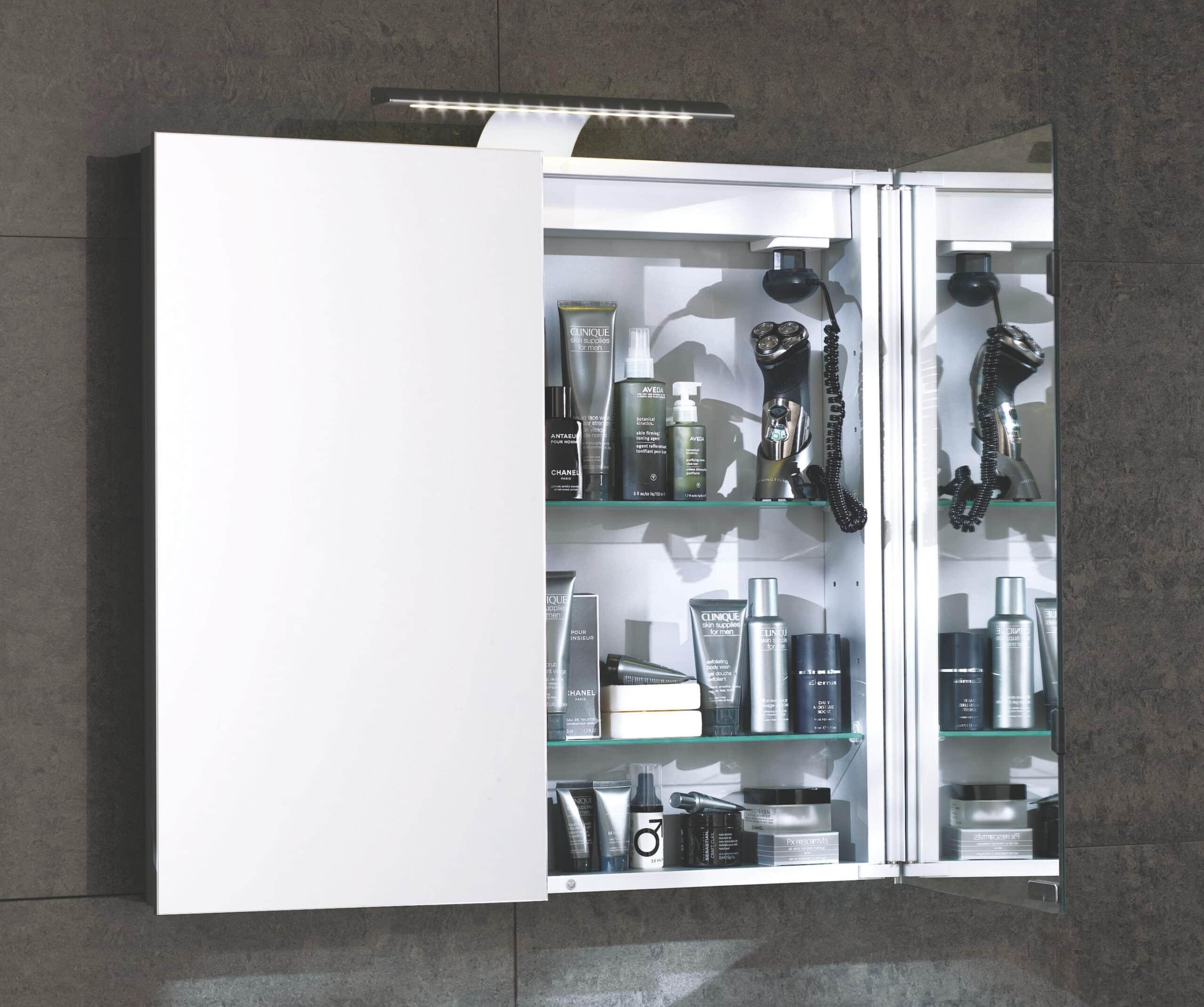 Aura 90cm Mirror Bathroom Cabinet Double Door Cheeky