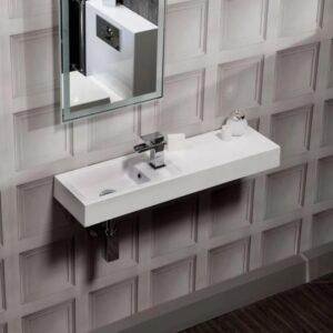 Corner Small Cloakroom Basin 410mm Cheeky Bathrooms