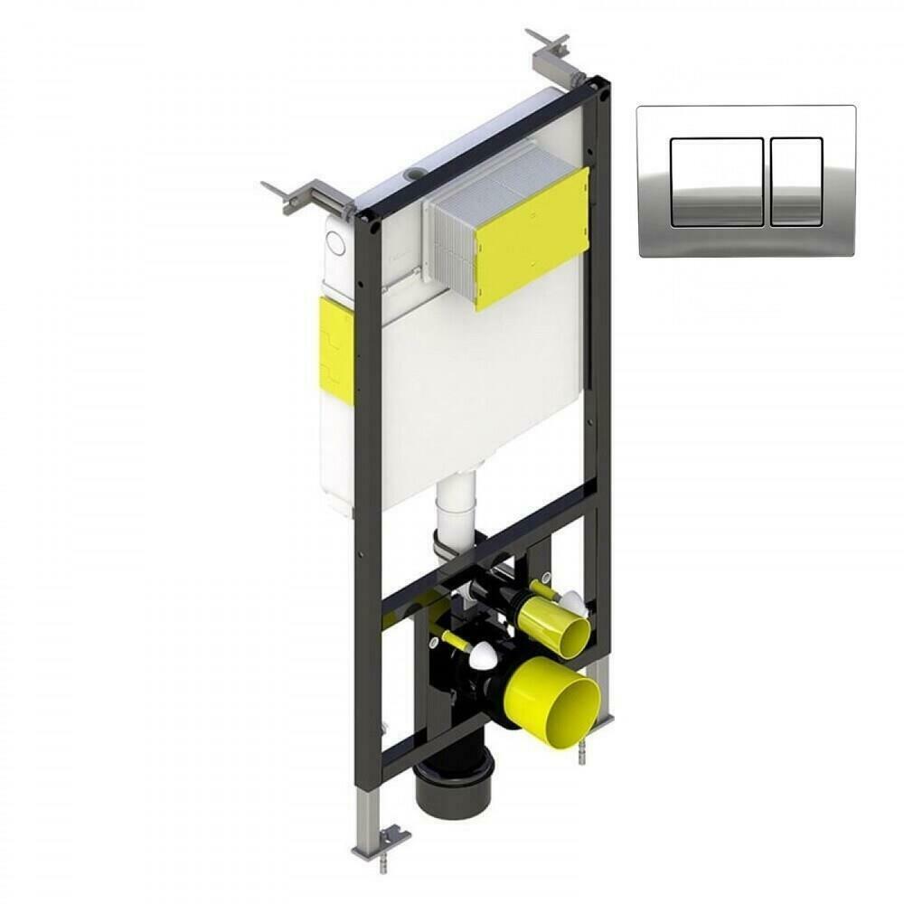 Toilet Cistern Dual Flush Valve Push Button WRAS Approved