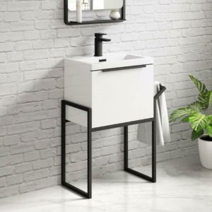 Black Frame Vanity Unit