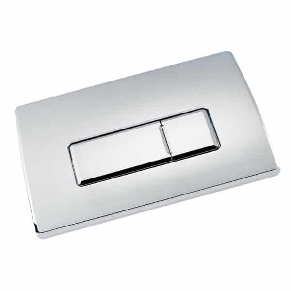 Large Chrome Pneumatic Push Button Flush Plate Part No.: 22103