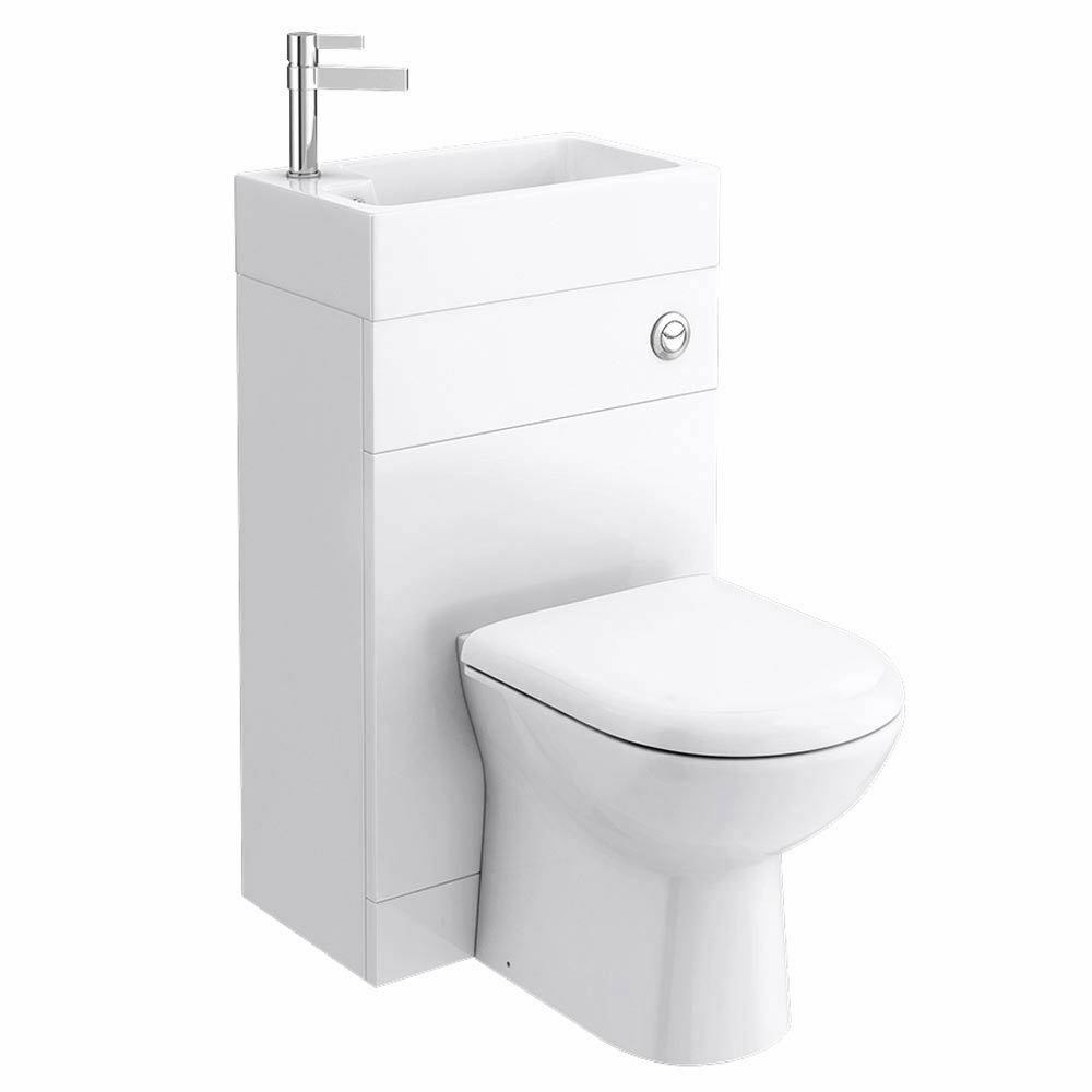 Caroni White Space Saving Toilet With Sink On Top 500mm Cheeky Bathrooms