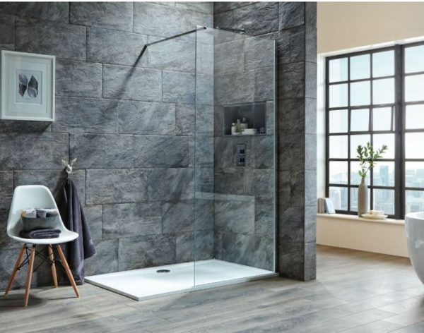i8 8mm 2m Tall Easy Clean Glass Wetroom Panel
